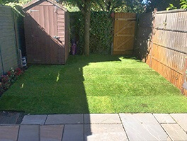Surrey Quays landscaping job after