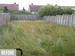 tufnell grass cutting before